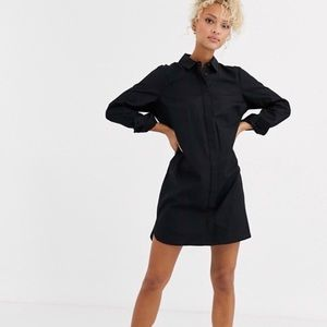 ASOS Cotton Mini Shirtdress